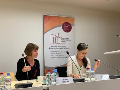 Prof. Richter und Dr. Dahlke, Direktorin am DHI Moskau